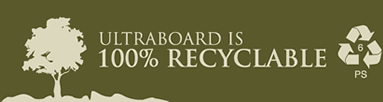 All Ultra Board products are 100% recyclable.